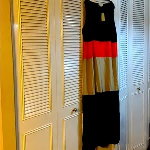 NWT- Michael Kors multi tiered, maxi dress